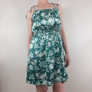 🌿Banana Republic Green Floral Sundress